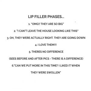 Lip filler phases